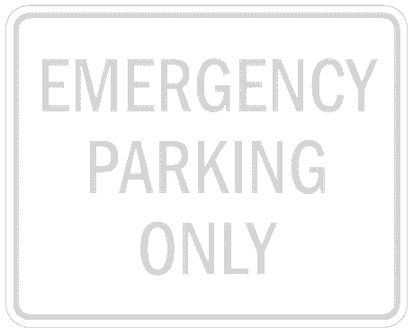 US street sign emergency parking only