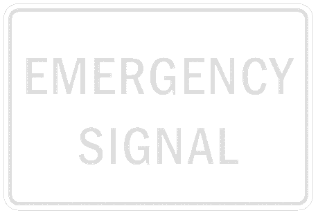 US street sign emergency signal