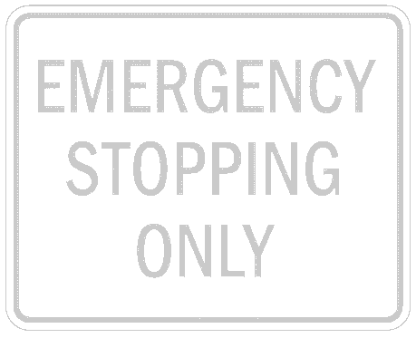 US street sign emergency stopping only