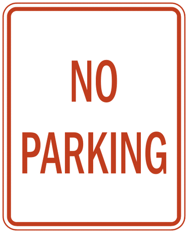 US street sign no parking