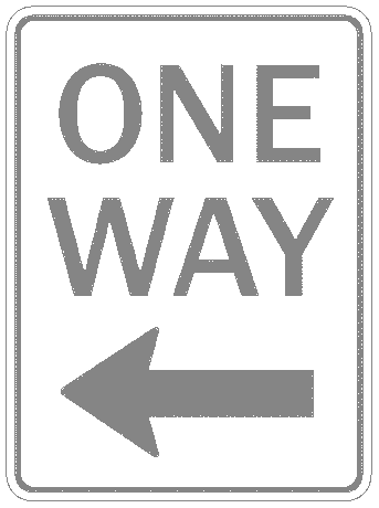 US street sign one way 2