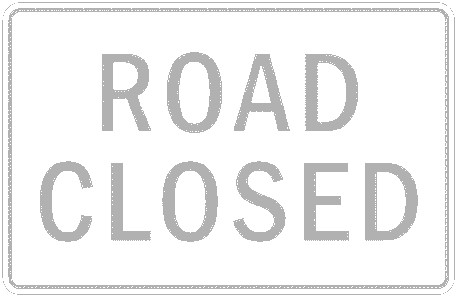 US street sign road closed