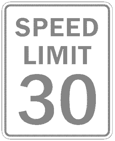 US street sign speed limit 30