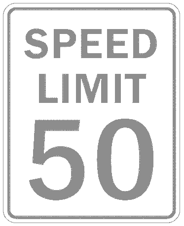 US street sign speed limit 50