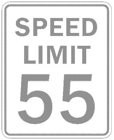 US street sign speed limit 55