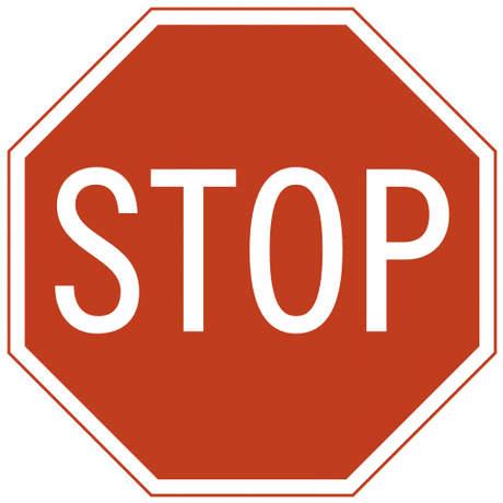 US street sign stop sign