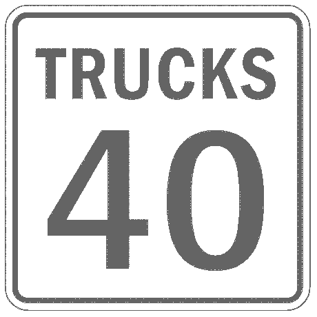 US street sign trucks 40