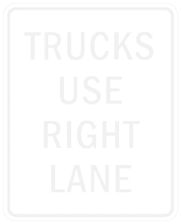 US street sign trucks use right lane