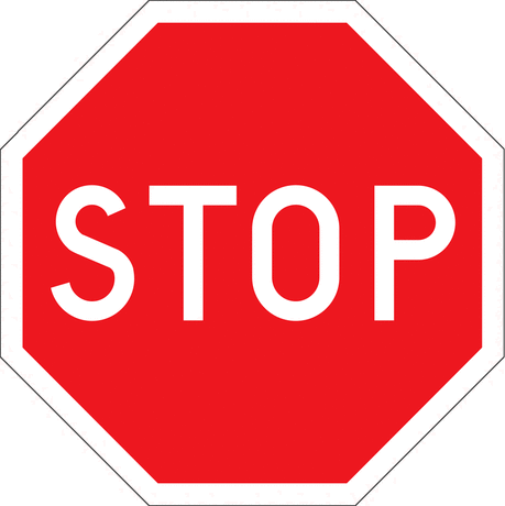 stop sign page