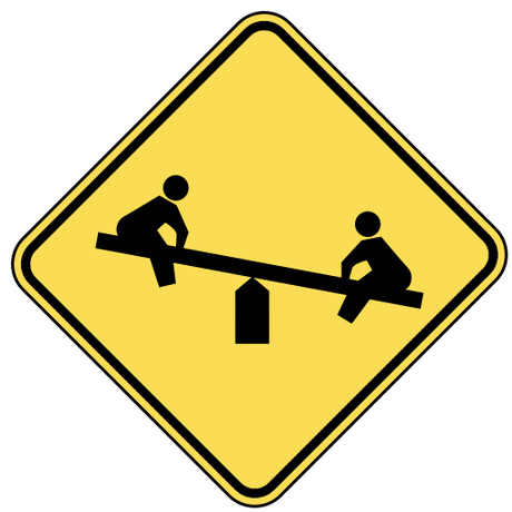 warning street sign playground