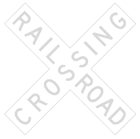 warning street sign railroad crossing