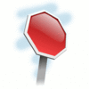 Street Road Sign angled stop sign clip art