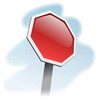 Street Road Sign stop-sign-angled 01 clip art