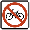 US street sign no bicycles clip art
