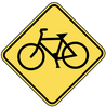 warning street sign bicycle crossing clip art
