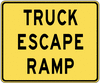 warning street sign truck escape ramp clip art