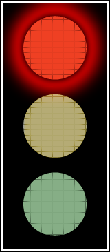 Traffic Lights red light full color
