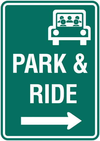 information sign park and ride