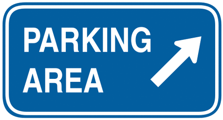 information sign parking area small