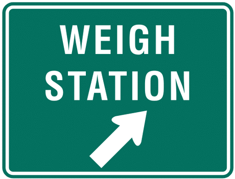 information sign weigh station