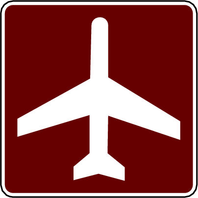 recreation sign airport