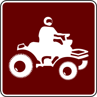 recreation sign atv