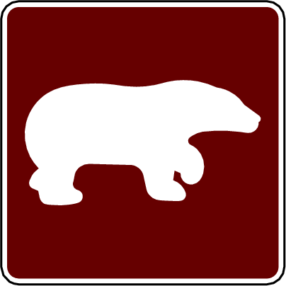 recreation sign bear viewing area