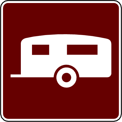 recreation sign camping trailer