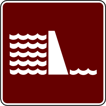 recreation sign dam
