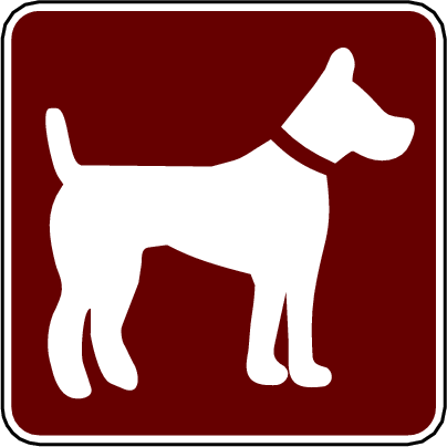recreation sign dog