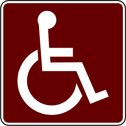 recreation sign handicapped