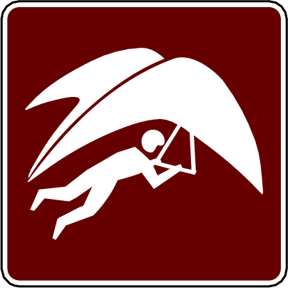 recreation sign hang glider