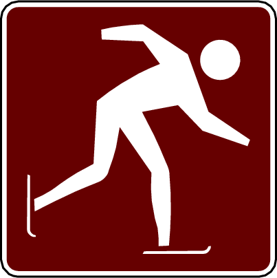 recreation sign ice skating