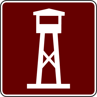 recreation sign lookout tower