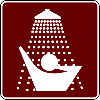 recreation sign showers