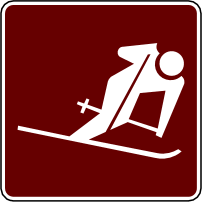 recreation sign ski downhill