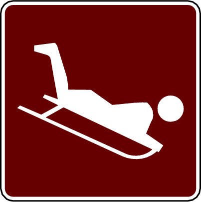 recreation sign sledding