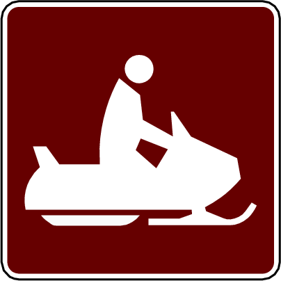 recreation sign snowmobiling