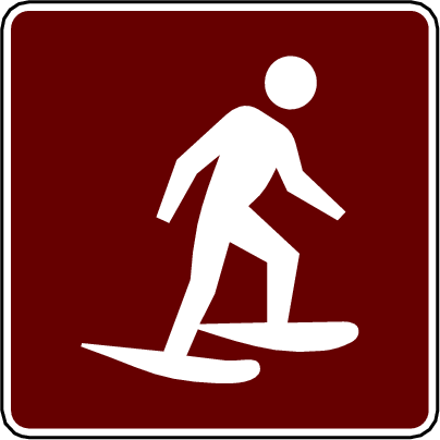recreation sign snowshoeing
