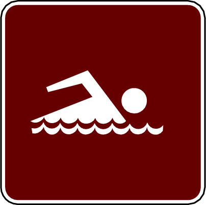 recreation sign swimming