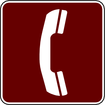 recreation sign telephone