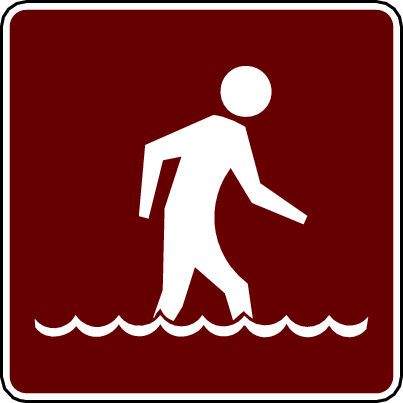 recreation sign wading