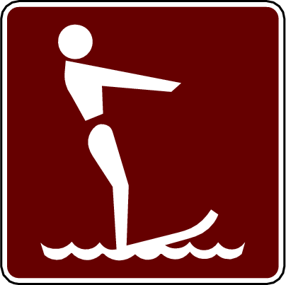 recreation sign water shiing