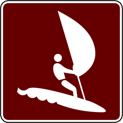recreation sign wind surf