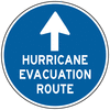 information sign hurricane evacuation route clip art