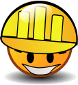 smiley hard hat construction