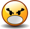 smiley angry yell clip art