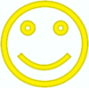 smiley face simple yellow clip art