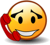 smiley on phone clip art