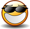 smiley wearing shades clip art